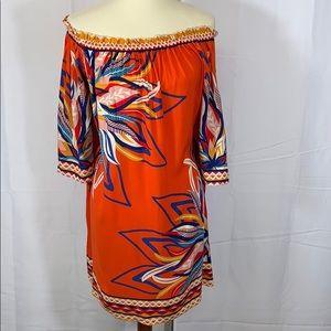 Free Market tropical off shoulder dress Large